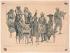 """Attribué à Huber. """"Voltaire, d'Alembert, Condorcet, l'abbé Maury, Diderot (au café Procope)"""". Eau-forte. Paris, musée Carnavalet.     © Musée Carnavalet/Roger-Viollet"""