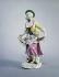 """Johann-Joachim Kaendler (1706-1775). """"Jeune femme dansant en relevant son tablier"""".  Porcelaine allemande, vers 1745-1748. Paris, musée Cognacq-Jay. © Marc Dubroca/Musée Cognacq-Jay/Roger-Viollet"""