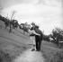 Couple having a walk. Sarreguemines (Moselle), on June 29, 1949. © Roger Berson/Roger-Viollet