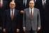 New Pierre Bérégovoy Cabinet : François Mitterrand (1916-1996) and Pierre Bérégovoy (1925-1993), French politicians. Paris, on April 8, 1992. © Jean-Paul Guilloteau / Roger-Viollet