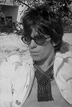 Keith Richards (born in 1943), British guitarist and musician, member of the Rolling Stones band. Cannes Film Festival (France), 1967. © Roger-Viollet