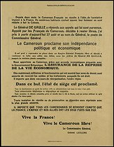 January 1, 1960: (60 years ago) The Republic of Cameroon becomes independent of France and the United Kingdom