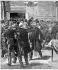 Affaire Dreyfus. Incidents à la chambre des Députés à l'occasion de l'interpellation sur l'affaire. Jean Jaurès frappant le député de Bernis, pour avoir été frappé par celui-ci. Paris, fin janvier 1898. © Roger-Viollet