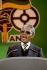 Nelson Mandela (1918-2013), président d'Afrique du sud, lors d'un concert en son honneur. Londres (Angleterre), Wembley Stadium, 29 mars 2007. © PA Archive / Roger-Viollet