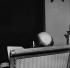François Mitterrand (1916-1996), French politician, in his study. Paris, February 1978. © Kathleen Blumenfeld/Roger-Viollet