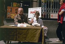 Elections of June 1989. Office of Solidarnosc in the street. Warsaw (Poland). © Roger-Viollet
