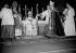 Monseigneur Jean-Marie Villot (1905-1979) consacré évêque par le cardinal Maurice Feltin, à la cathédrale Notre-Dame de Paris. 12 octobre 1954. © Roger-Viollet