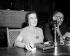 Golda Meir and David Tsur, ambassador of Israel in France. Press conference in the Hotel Raphaël in Paris, August 6, 1958. © Roger-Viollet