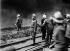Le préfet Lépine lors de l'incendie des Magasins Généraux de la Compagnie du Nord. Paris, 21 avril 1909.     © Collection Branger/Roger-Viollet