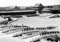 Sino-Japanese war, 1937-1941. The Japanese army parading in the Forbidden City after the storming of Beijing, on July 28, 1937. © Roger-Viollet