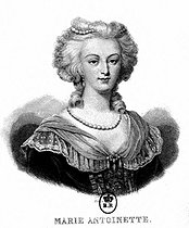 Marie-Antoinette (1755-1793), Queen of France and wife of Louis XVI (1755-1793). Engraving. French National Library. © LAPI/Roger-Viollet