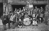 """Conservatoire des gosses de la Butte"" (Academy of music for children from the Butte Montmartre), place du Tertre in Montmartre opened under Olga Regnault's direction in 1940. Paris (XVIIIth arrondissement). © Albert Harlingue / Roger-Viollet"