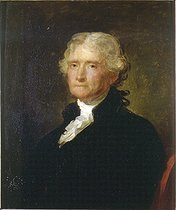 Healy after Stuart. Thomas Jefferson (1743-1826),, 3rd president of the United States. Blérancourt (France), Franco-American museum. © Roger-Viollet