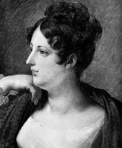 Hortense Allart (1801-1879), French woman of letters and friend of François-René de Chateaubriand's (1768-1848), French writer and politician. Portrait by Mrs Gabriac. © Roger-Viollet