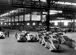 Renault 4 CV entreposées à l'usine.    © Roger-Viollet