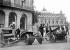 World War II. Rank for taxi-bikes, place de l'Opéra. Paris, August 1943. © LAPI/Roger-Viollet