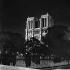 La cathédrale Notre-Dame illuminée. Paris (IVème arr.), 1965-1970. © Roger-Viollet