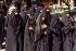 Rally of women, members of the Hezbollah party. Baalbek (Lebanon), 1985. © Françoise Demulder/Roger-Viollet