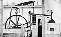 Rotary machine designed by James Watt (1736-1819), Scottish engineer. © Roger-Viollet