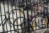 Bike, during the strikes. Paris, October 1995. © Jean-Pierre Couderc/Roger-Viollet