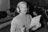 Line Renaud in a recording studio. Paris, October 1979. © Jacques Cuinières / Roger-Viollet