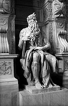 Moses (1514), by Michelangelo (1475-1564). Rome, church San Pietro in Vincoli (Saint Peter in Chains). © Roger-Viollet