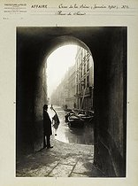 Floods in Paris. Rue de Seine (VIth arrondissement). Anonymous photograph (Criminal Records Office). January 1910. Paris, musée Carnavalet. © Musée Carnavalet/Roger-Viollet