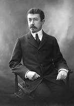 Paul Painlevé (1863-1933), French mathematician and politician. Photograph by Henri Manuel.    © Henri Manuel / Roger-Viollet