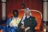 Omar Bongo (1935-2009), Gabonese statesman, and Yasser Arafat (1929-2004), head of the Palestine Liberation Organization. Gabon, April 1989. © Françoise Demulder / Roger-Viollet