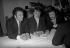 Paul Lederman (born in 1940), impresario and Claude François (1939-1978), French singer-songwriter. Paris, 1963.  © Noa / Roger-Viollet