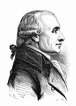 Gaspard Monge, count of Péluse (1745-1818), French mathematician. Engraving by Thorigny (19th century). © Roger-Viollet