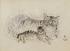 "Foujita (Léonard Tsuguharu Foujita, 1886-1968). ""Deux chats"". Dessin (encre à la plume et crayon sur papier). 1931. Paris, musée d'Art moderne. © Musée d'Art Moderne/Roger-Viollet"