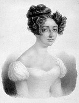Harriet Smithson (1800-1854), Irish actress who married Hector Berlioz in 1833. Engraving. Paris, library of music Conservatoire. © Roger-Viollet