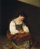 "Le Caravage (v. 1571-1610). ""Madeleine repentante"". Huile sur toile, vers 1593-1594. Rome (Italie), galerie Doria-Pamphilj. © Alinari / Roger-Viollet"