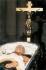 Chapelle funéraire de Francisco Franco (1892-1975), militaire et chef d'État espagnol. Madrid (Espagne), 21 novembre 1975. Palais royal du Prado. © Iberfoto / Roger-Viollet