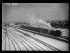 """La gare d'Achères sous la neige. Achères (Seine-et-Oise puis Yvelines), décembre 1938. Photographie du journal """"Excelsior"""". © Excelsior – L'Equipe/Roger-Viollet"""