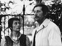 """Le Cavaleur"", film by Philippe de Broca. Jean Rochefort and Annie Girardot. France, 1978. © Roger-Viollet"