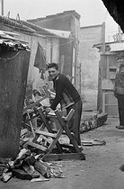 Portuguese community in a shanty town. Champigny-sur-Marne (France), 1967. © Georges Azenstarck / Roger-Viollet