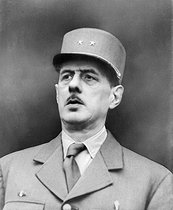 World War II. Charles de Gaulle (1890-1970), French General, 1944. © LAPI / Roger-Viollet