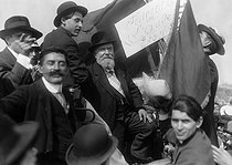 Demonstration against the Three-Year Service Law. Speech of Jean Jaurès (1859-1914), French politician. Le Pré-Saint-Gervais (France), on May 25, 1913. © Maurice-Louis Branger / Roger-Viollet