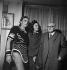 """Répétition de la pièce """"Phèdre"""". Maurice Escande, Marie Bell et Paul Claudel. Paris, Comédie-Française, 1949. © Boris Lipnitzki / Roger-Viollet"""