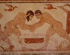 Lutteurs (fresque 530 av. J.-C.). Tarquinia, tombe des Augures. © Roger-Viollet