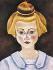 Joan Miró (1893-1983). Portrait d'une jeune fille. Huile sur carton, avant-garde, 1919. Barcelone (Espagne), Fondation Joan Miró. © Iberfoto / Roger-Viollet