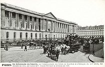 The Perrault's Colonnade (or Colonnade du Louvre) which construction was decided by King Louis XIV of France in 1667 and inaugurated in 1685. Paris (Ist arrondissement). Postcard, circa 1900. © Roger-Viollet