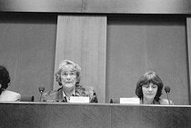 Meeting organised at the Senate by Yvette Roudy in support of male-female parity. Paris (France), 1993. © Janine Niepce/Roger-Viollet