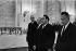 Entretiens franco-soviétiques au Kremlin. De Gaulle, Podgorny, Brejnev et Kossyguine. Moscou (URSS), juin 1966. © Collection Roger-Viollet/Roger-Viollet