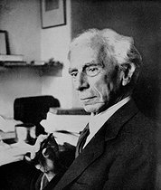 Bertrand Russel (1877-1957), English mathematician and philosopher, at 77 years old. © Roger-Viollet