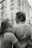 Serge Gainsbourg (1928-1991), chanteur et compositeur français et Jane Birkin (née en 1946), actrice anglaise. Paris, 1969. Photographie de Georges Kelaïditès (1932-2015). © Georges Kelaïditès / Roger-Viollet