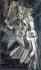 """Marcel Duchamp (1887-1968). """"Nu descendant un escalier"""", 1949. Huile sur toile. Philadelphie, musée d'art moderne. © TopFoto / Roger-Viollet"""