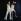 Twiggy (née en 1949), mannequin anglais (à gauche), 1966. © Roger-Viollet